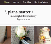 Website for a Wedding Florist